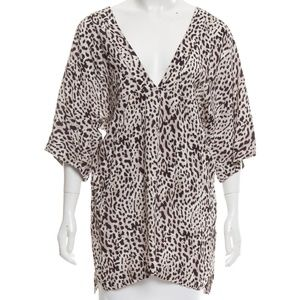ViX Paula Hermanny Dresses - NWT ViX Paula Hermanny Grey Leopard Print Cover Up